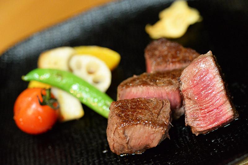 秋の鉄板焼ステーキコース