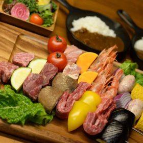 串焼BBQとスパイスカレーディナー